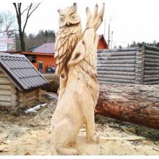 """Фигура из дерева """"Волк и Сова"""""""