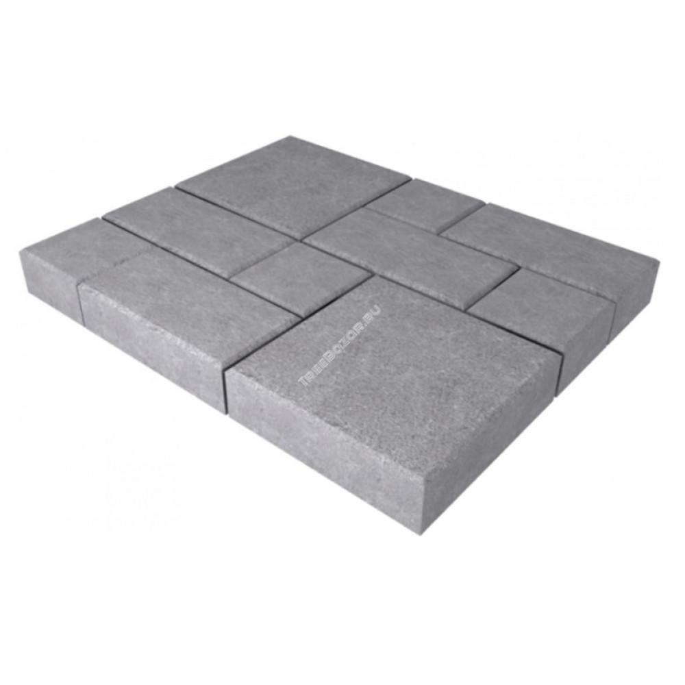 """Плитка тротуарная """"Калифорния"""" серый (1м2) 300*300*30"""